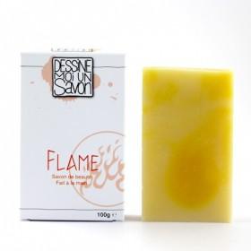 Savon Flame, Karité au parfum citronné -Vegan