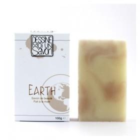 Savon Earth, Karité et parfum boisé - surgras - Vegan