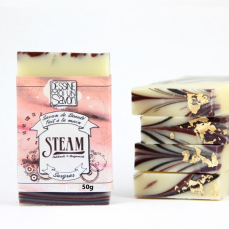 Savon steam enrichi en aloe vera et argan - surgras - vegan - mini format