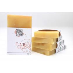 Savon Flame, Karité au parfum citronné - Surgras - Vegan - Mini format