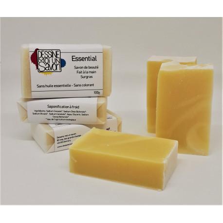 Savon Essential - Surgras - Vegan - Sans huile essentielle - Sans colorant